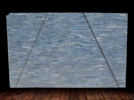 Azul Do Mar Quartzite Mosaic Slab